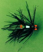 Fly tied with Atomic Glow Flytying Material